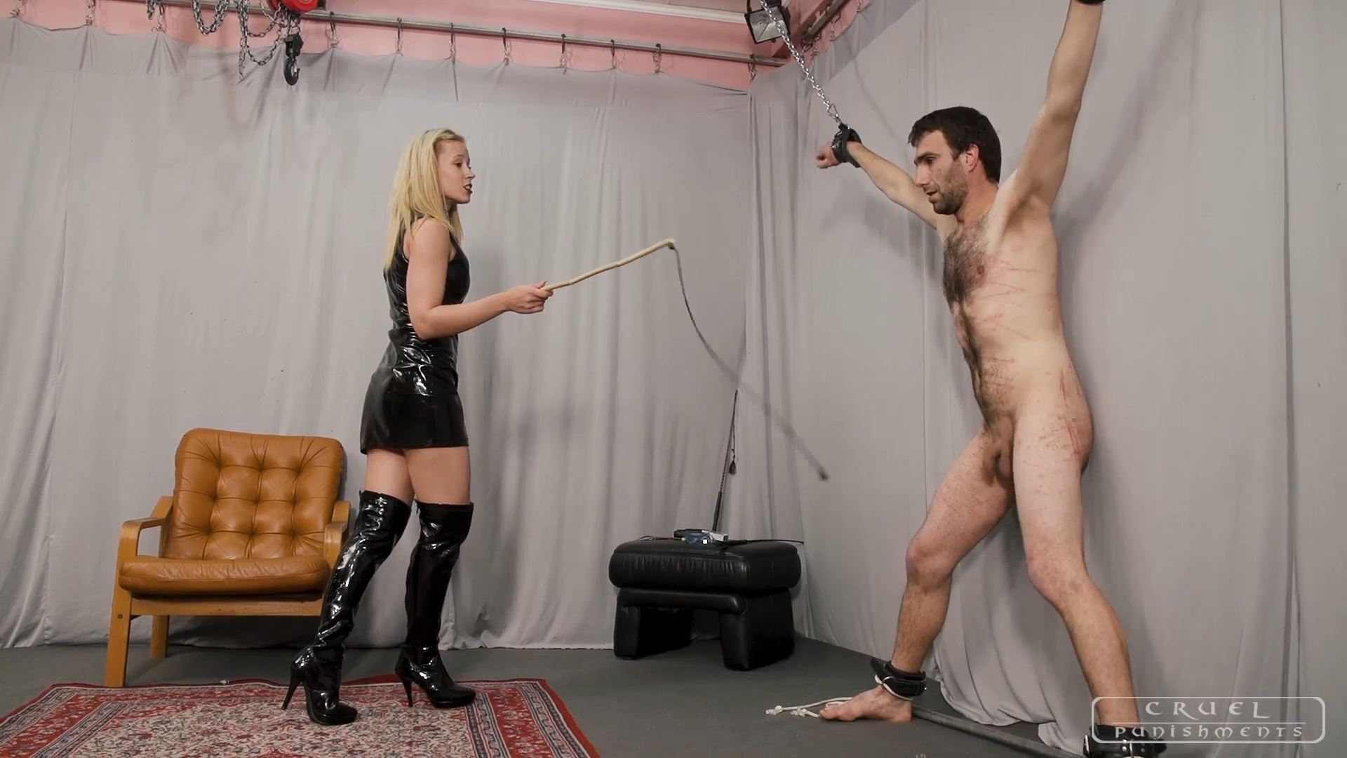 Mistress Anette In Scene: Making him scream Part 3 - CRUEL PUNISHMENTS - SEVERE FEMDOM - FULL HD/1080p/MP4