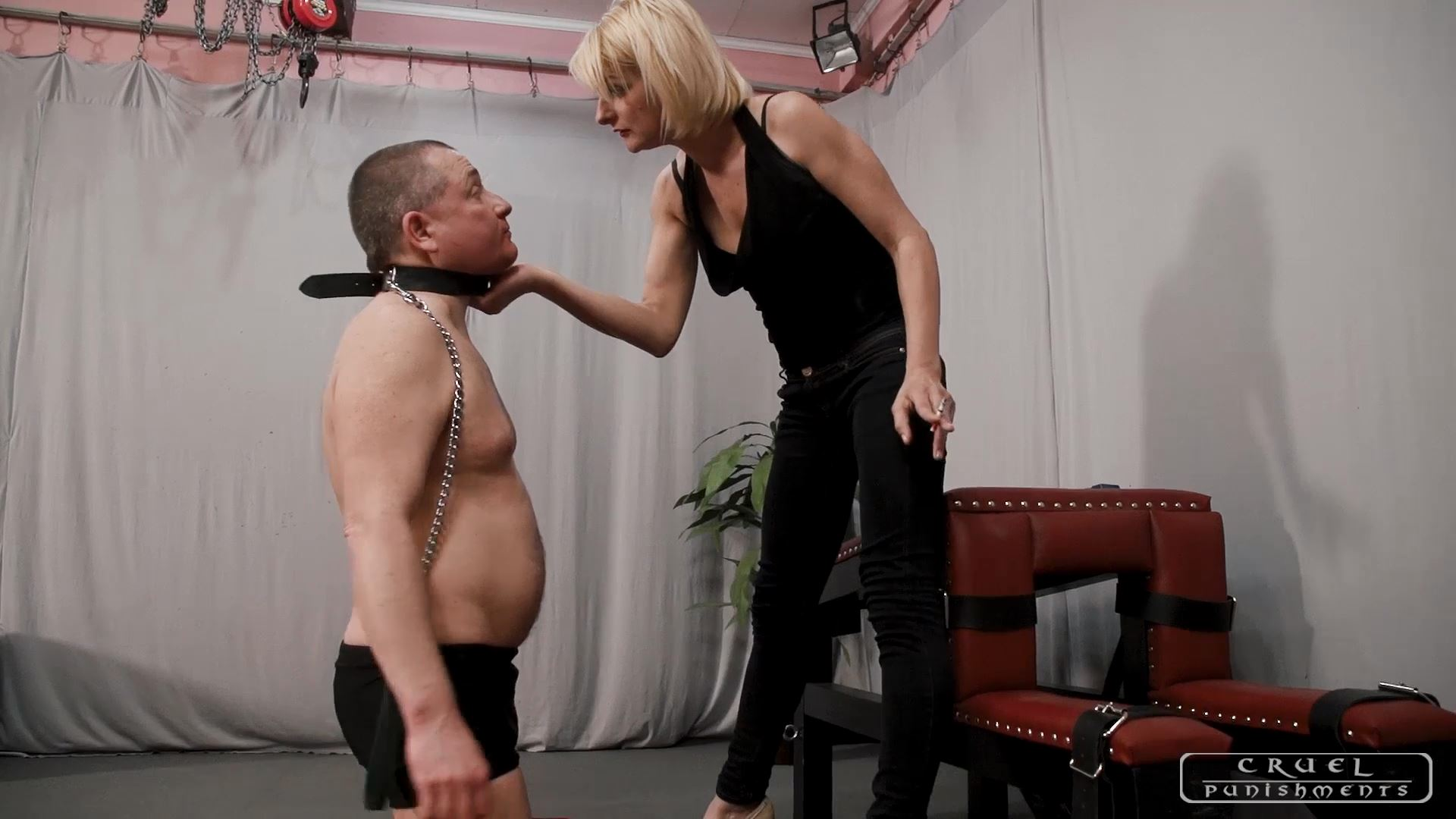 Mistress Bonnie In Scene: Smacking with huge force - CRUEL PUNISHMENTS - SEVERE FEMDOM - FULL HD/1080p/MP4
