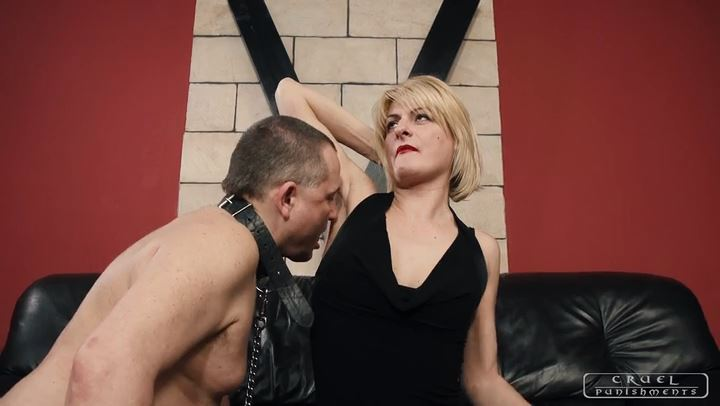 Mistress Bonnie In Scene: Sole and armpit licking - CRUEL PUNISHMENTS - SEVERE FEMDOM - SD/406p/MP4