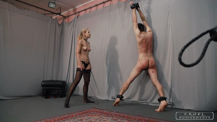 Mistress Anette In Scene: Flexing muscles and torture Part 2 - CRUEL PUNISHMENTS - SEVERE FEMDOM - SD/406p/MP4