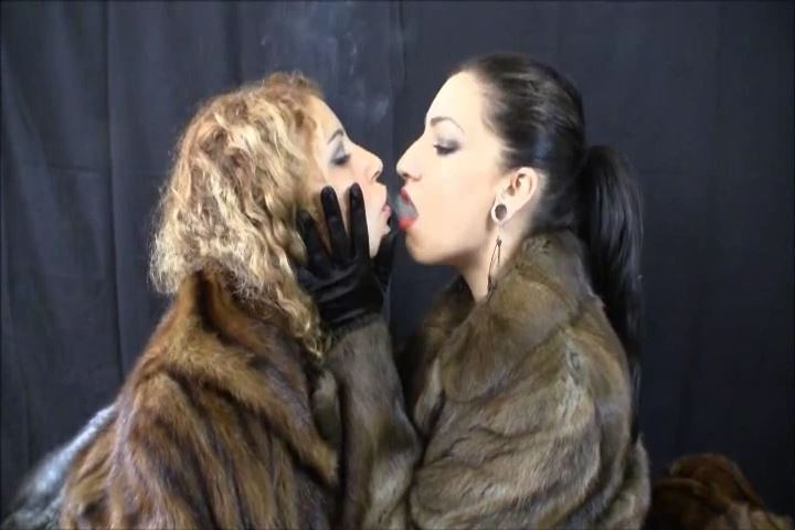 Cybill B. Troy, Cecilia Cane In Scene: TWO SMOKING HOT DOMINAS SHARE CIGARETTE SMOKE IN FUR COATS - CYBILL TROY`S DTLA DOMINAS � SD/480p/MP4