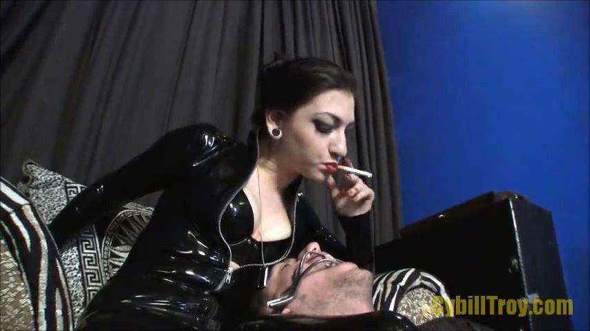 Mistress Cybill Troy In Scene: HUMAN ASHTRAY TRAINING - CYBILL TROY`S DTLA DOMINAS � SD/480p/MP4
