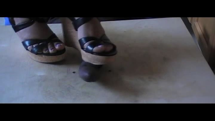 MY NEW COCK CRUSHING WEDGES THANK YOU CEF PART 1 - EBONY COCK CRUSHING UNDER HEELS - SD/406p/MP4