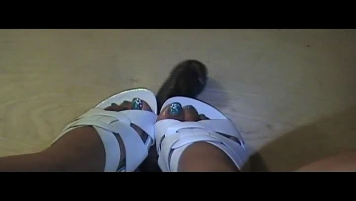 MISTRESS CRUSH In Scene: COCK CRUSH TIL IT BUST WITH HIS HELP - EBONY COCK CRUSHING UNDER HEELS - SD/406p/MP4