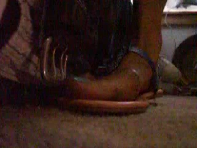 MY SEXY SUMMER TIME FLATS CRUSHNG HIS COCK - EBONY COCK CRUSHING UNDER HEELS - SD/480p/MP4