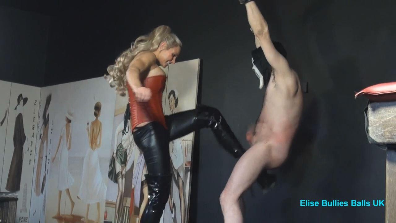Mistress Elise In Scene: Barbaric Insane Ball Busting 4 - ELISE BULLIES BALLS UK - HD/720p/MP4