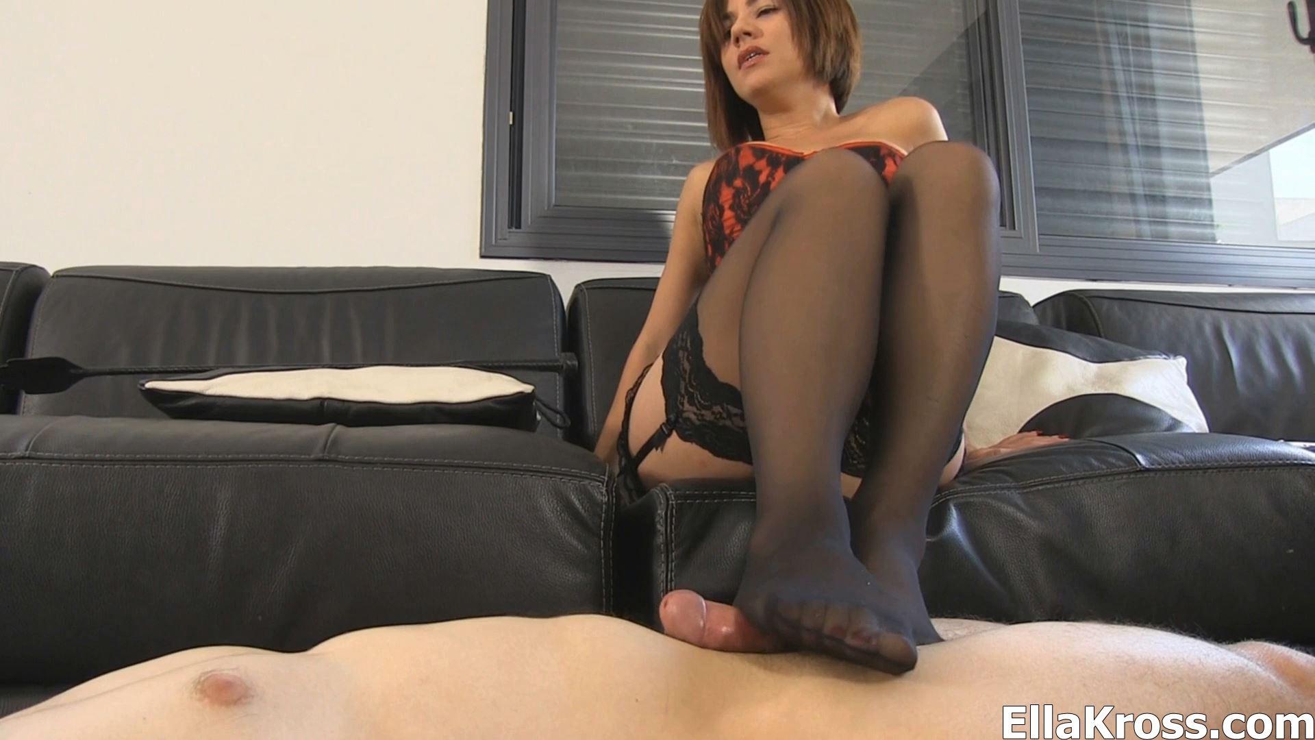 Ella Kross In Scene: Foot Worshiping Cock Tease - ELLAKROSS - FULL HD/1080p/MP4