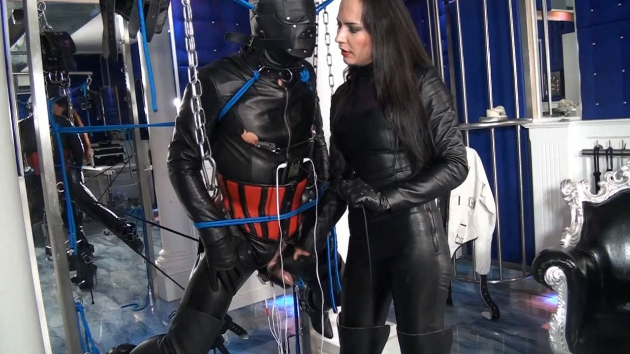 Fetish Diva Nadja In Scene: Brutal training of the leather slave to the personal milking parlor Part 4 - FETISH-DIVA-NADJA - HD/720p/MP4