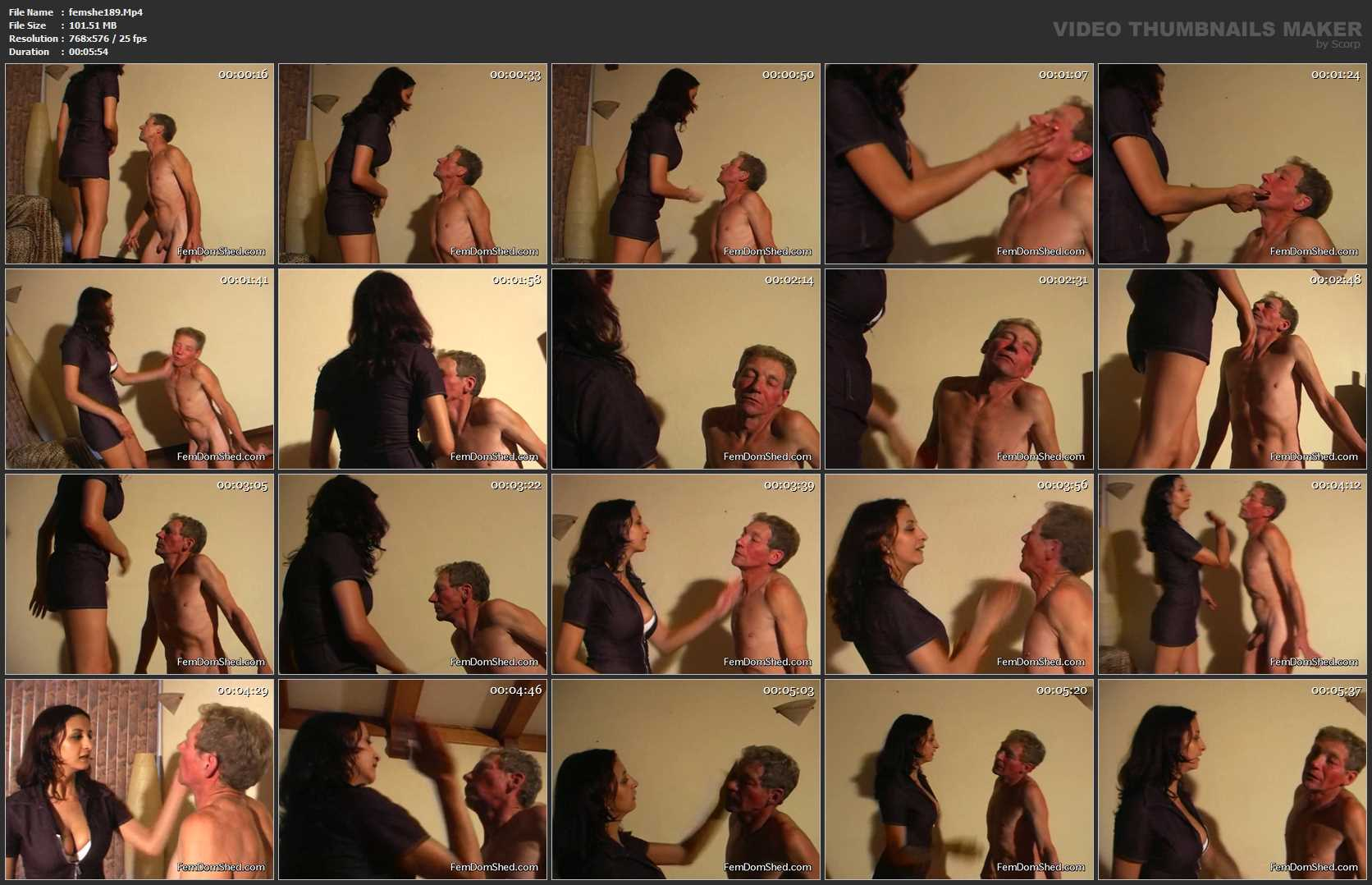Mistress Evil In Scene: Face Slapping Lessons - FEMDOMSHED - SD/576p/MP4