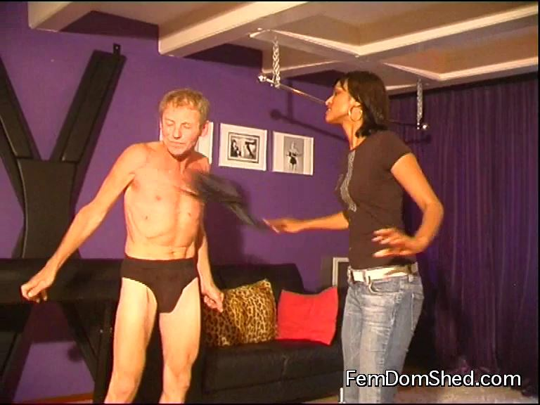 Goddess Valeska In Scene: Whipping His Chest - FEMDOMSHED - SD/576p/MP4