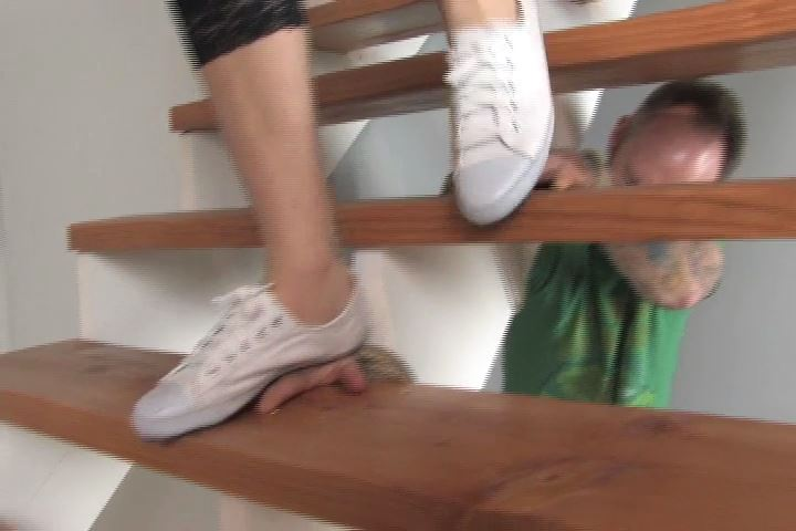 Don't put your hands on the stairs if you don't want them stepped on - HEADUNDERHEELS - SD/480p/MP4