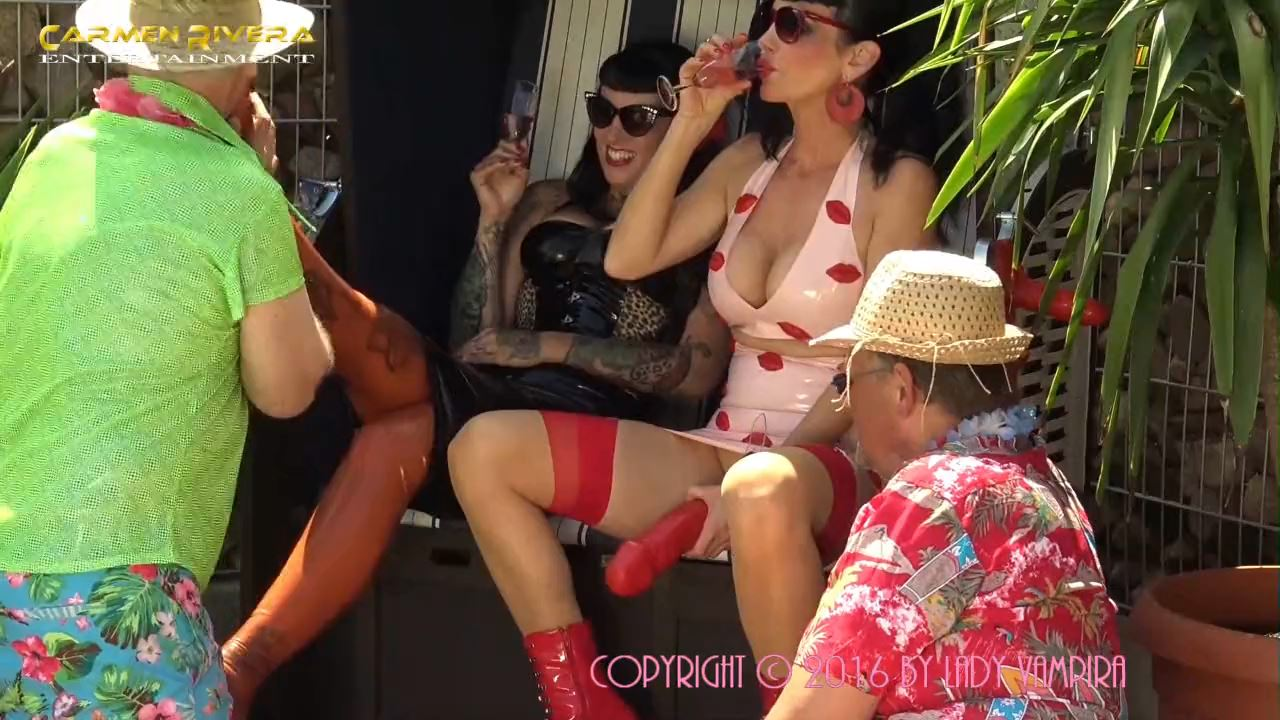 Lady VampiraCarmen Rivera, Lady Vampira In Scene: Celebrating a pool party with slaves in the Femdom Empire Part 1 - PIN UP DOMINATION BY LADY VAMPIRA - HD/720p/MP4