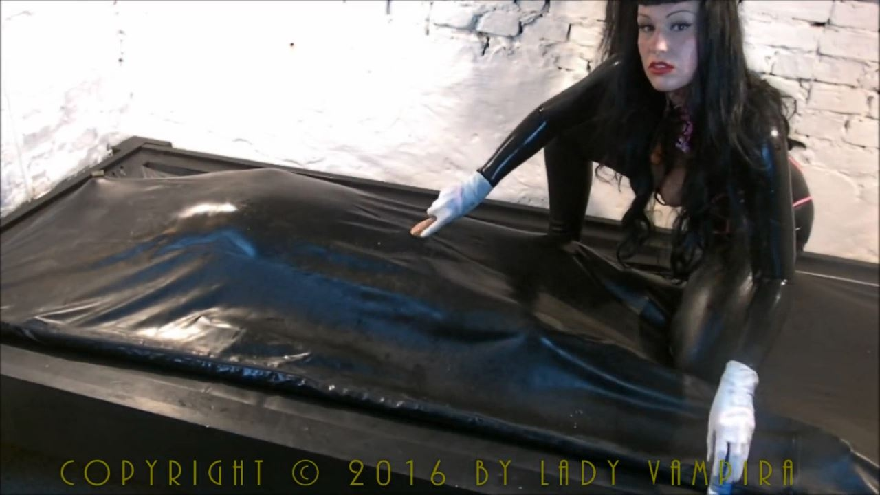 Lady Vampira In Scene: Milking the Rubber Slave - PIN UP DOMINATION BY LADY VAMPIRA - HD/720p/MP4