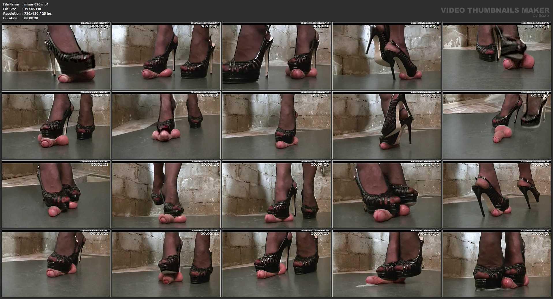 Mistress Arletta In Scene: IN THE CELLAR - A BALLS AND COCK TRAMPLE - SD/450p/MP4