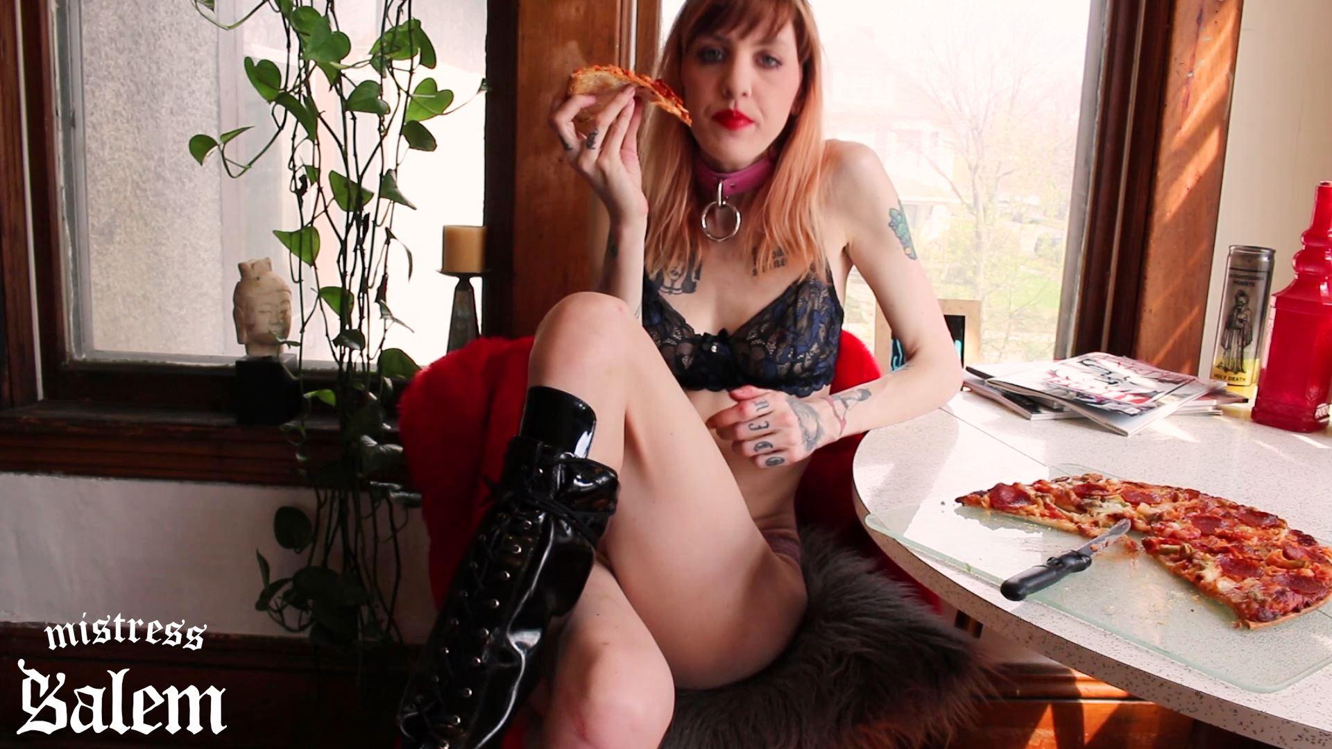 Mistress Salem In Scene: Loser Lunch Date Pizza Party Humiliation - MISTERSS SALEM - FULL HD/1080p/MP4