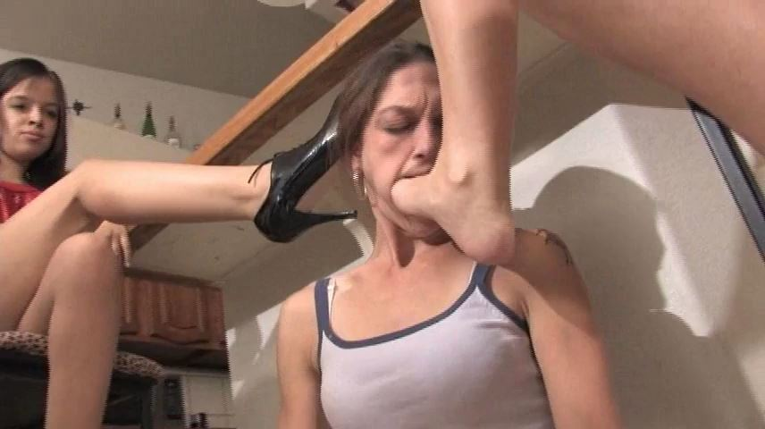 Miss Tiffany In Scene: To be our footstool and lick our feet - MISS-TIFFANY - SD/480p/MP4