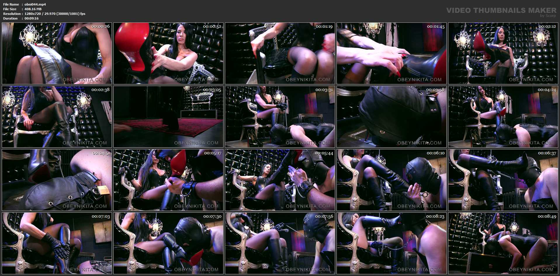 Mistress Nikita In Scene: Ucky Little Bootlicker - OBEYNIKITA - HD/720p/MP4