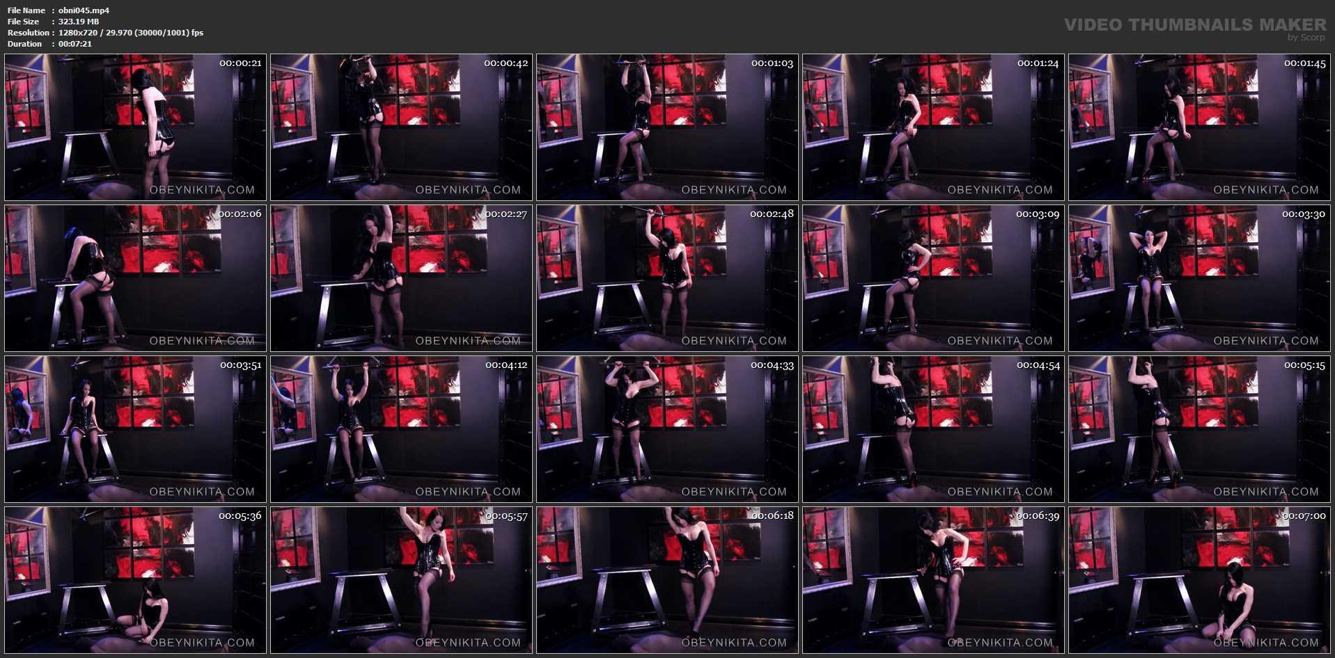 Mistress Nikita In Scene: Stepping On My Nylon Worm - OBEYNIKITA - HD/720p/MP4