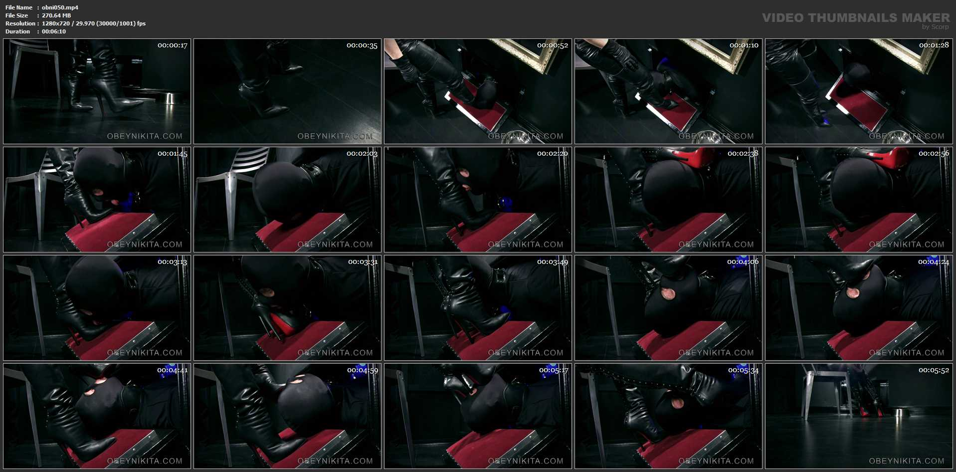 Mistress Nikita In Scene: Boot Hole - OBEYNIKITA - HD/720p/MP4
