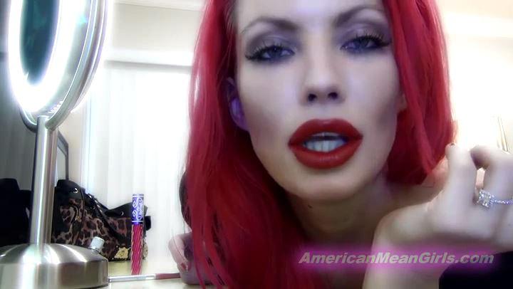 Goddess Harley In Scene: Red Lipstick Kisses - THE MEAN GIRLS POV - SD/406p/MP4