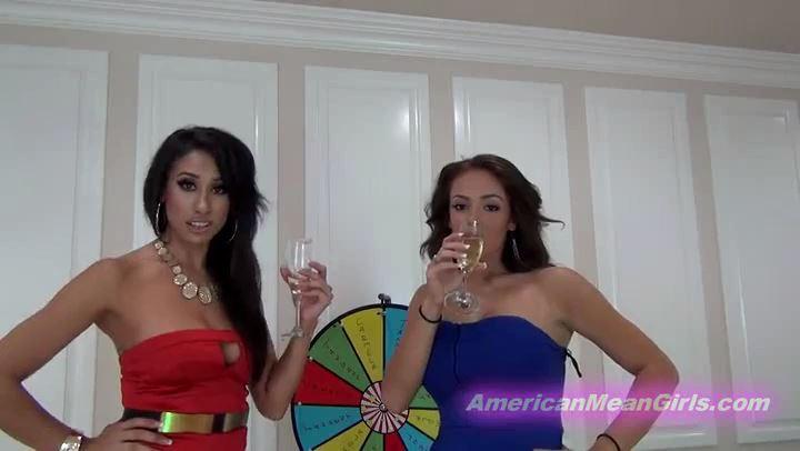Mistress Tangent, Princess Carmela In Scene: Ball Busting wheel O Fun - THE MEAN GIRLS POV - SD/406p/MP4