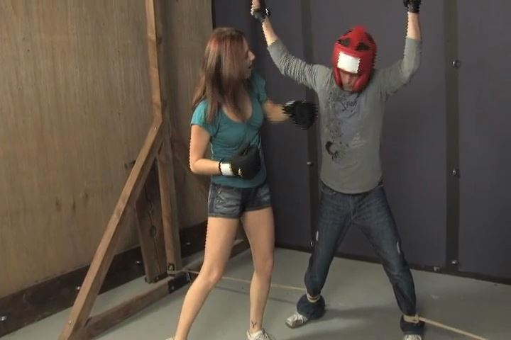 Shauna has her loser tied up and unable to get away or dodge her punches - BEATENBYGIRLS - SD/480p/MP4