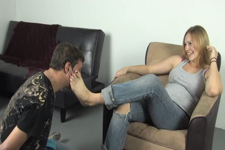 Jolene is disgusted with her slaves obsession with her feet - BEATENBYGIRLS - SD/480p/MP4