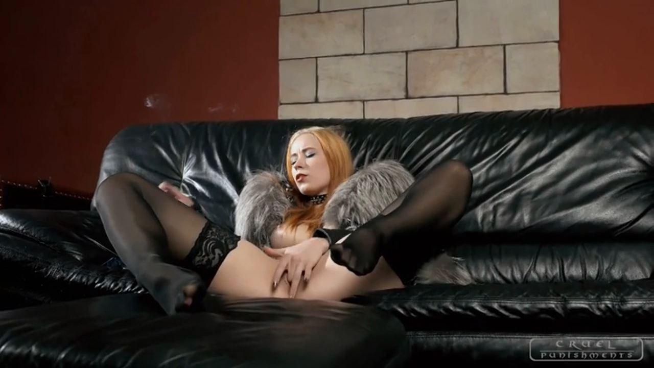 Mistress Anette In Scene: Fingering and cigarette - CRUEL PUNISHMENTS - SEVERE FEMDOM - HD/720p/MP4