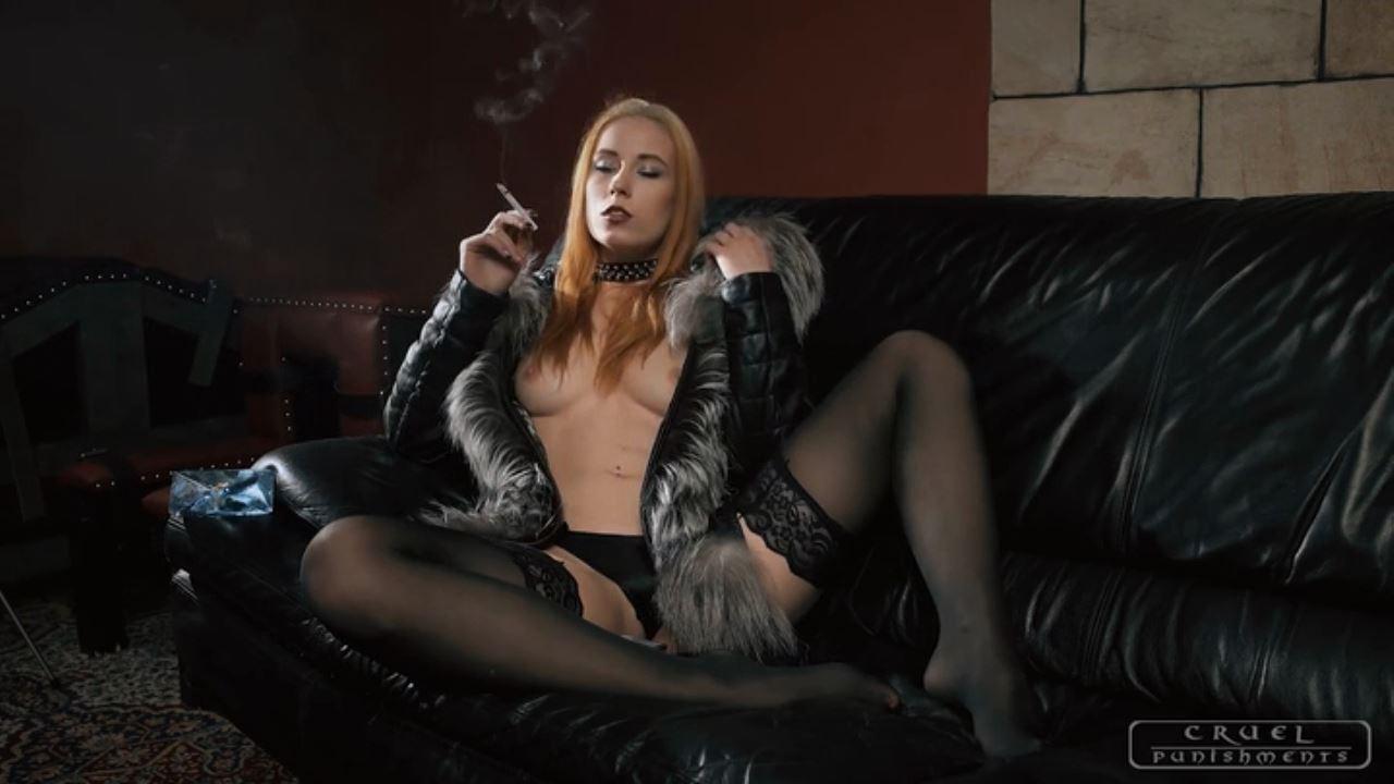 Mistress Anette In Scene: Sexy smoker - CRUEL PUNISHMENTS - SEVERE FEMDOM - HD/720p/MP4