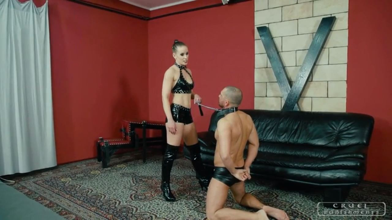 Mistress Anette In Scene: False confidence - CRUEL PUNISHMENTS - SEVERE FEMDOM - HD/720p/MP4