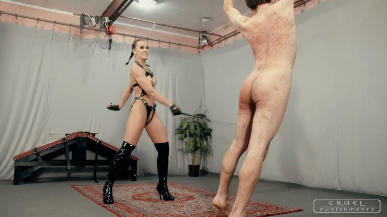 Mistress Anette In Scene: Cruel Anette tortures him Part 2 - CRUEL PUNISHMENTS - SEVERE FEMDOM - HD/720p/MP4