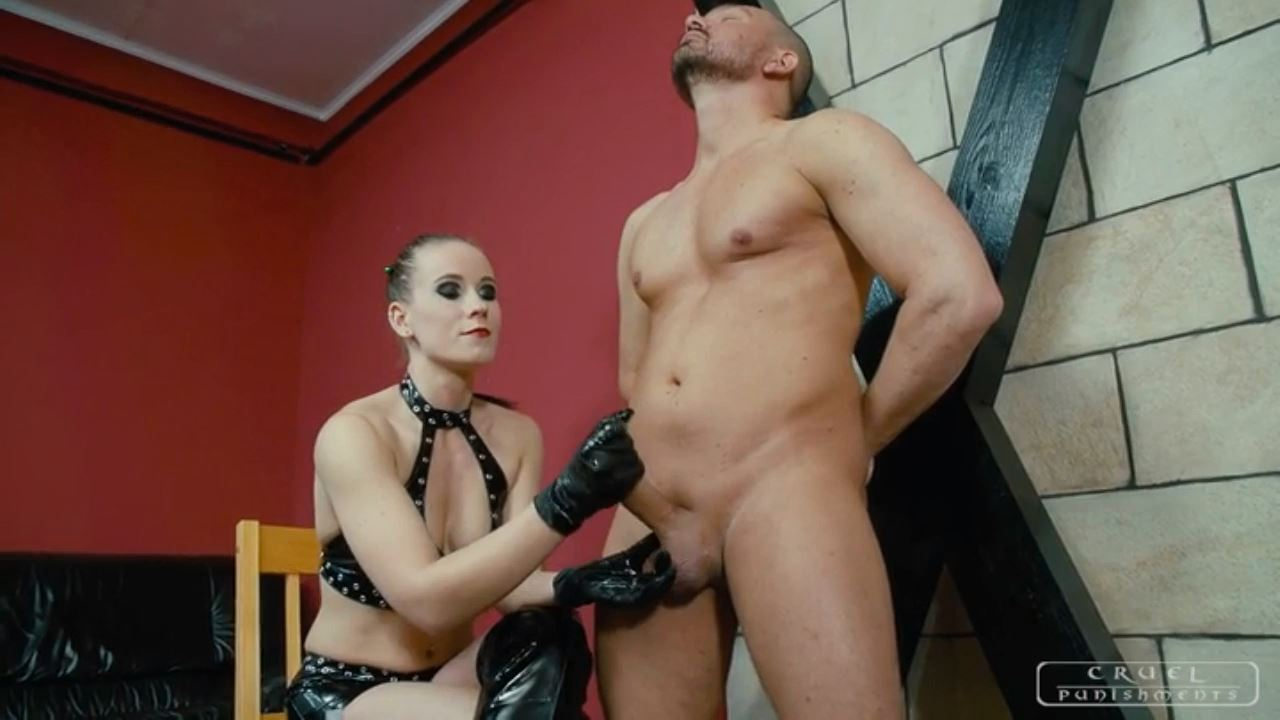 Mistress Anette In Scene: Lick your cum - CRUEL PUNISHMENTS - SEVERE FEMDOM - HD/720p/MP4