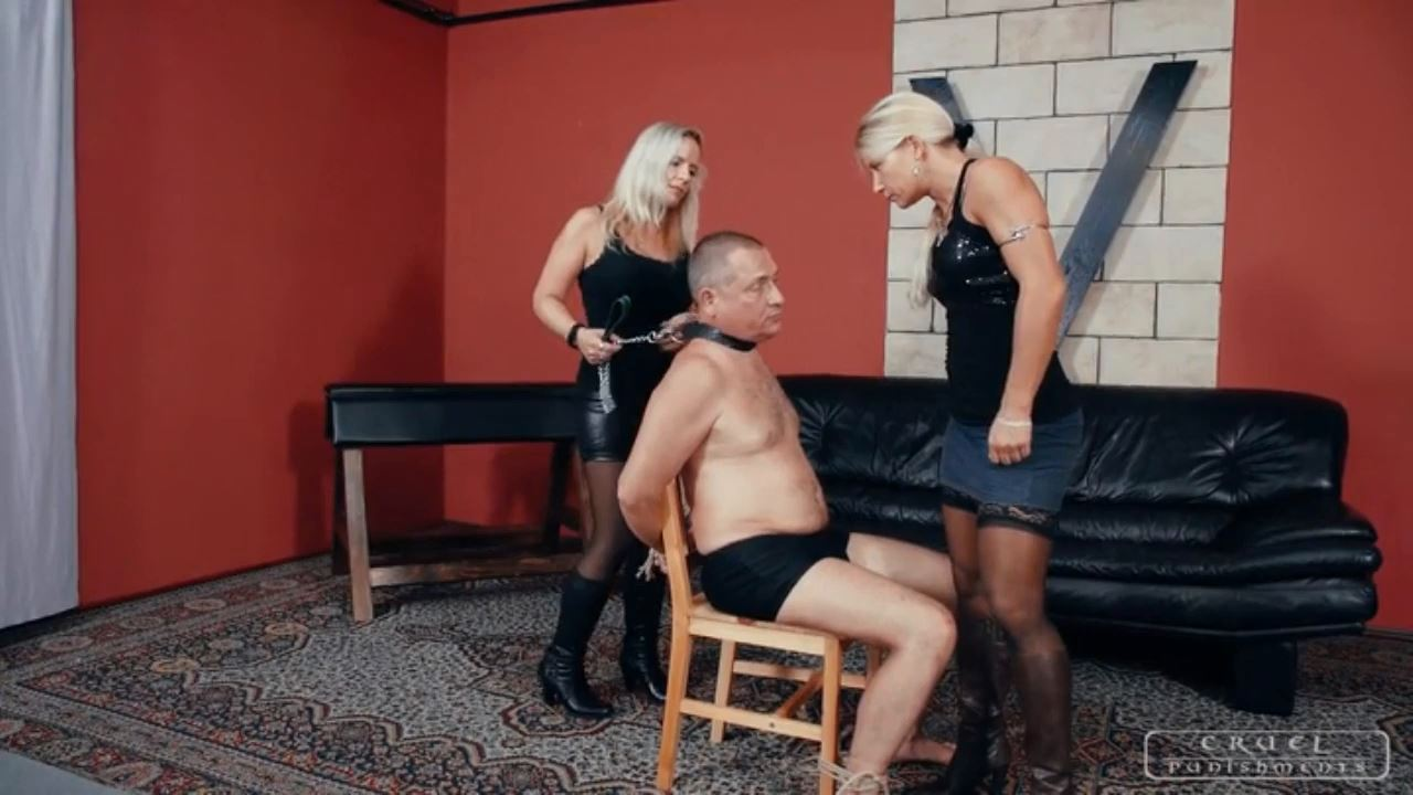 Mistress Zita In Scene: Interrogation with two ladies - CRUEL PUNISHMENTS - SEVERE FEMDOM - HD/720p/MP4