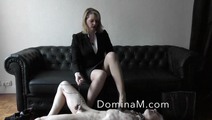Domina M In Scene: BlackMailed Boss - DOMINA M`s SLAVE TRAINING - SD/406p/MP4
