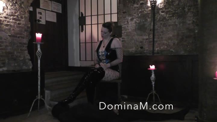 Domina M In Scene: Dungeon Rug - DOMINA M`s SLAVE TRAINING - SD/406p/MP4