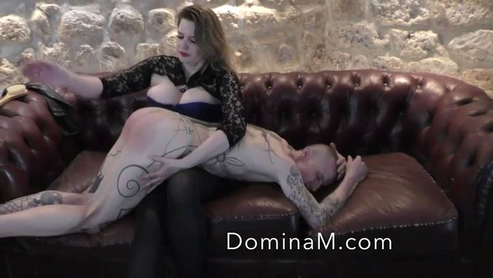 Domina M In Scene: Spanking over Stockings - DOMINA M`s SLAVE TRAINING - SD/406p/MP4