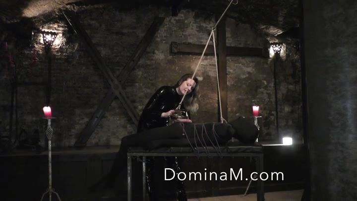 Domina M In Scene: Dungeon Ball Stretching - DOMINA M`s SLAVE TRAINING - SD/406p/MP4