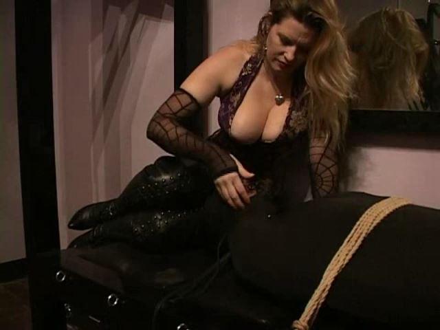 Domina M In Scene: Rubber Dog, El Esclavo, Face Slapping and Chair - DOMINA M`s SLAVE TRAINING - SD/480p/MP4