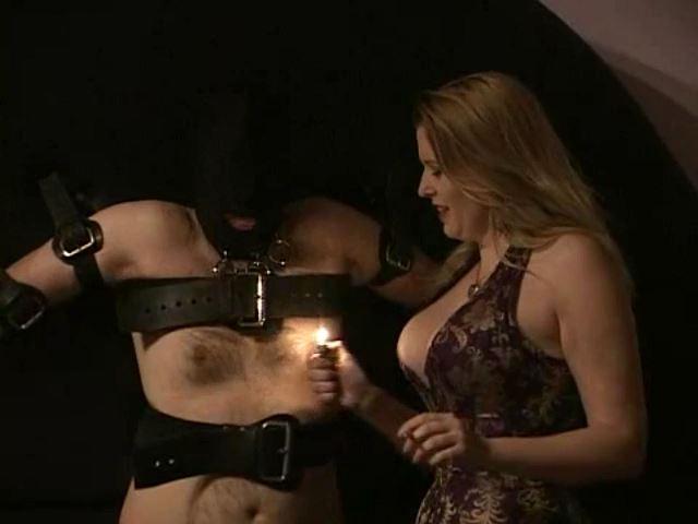 Domina M In Scene: Rubber Dog, El Esclavo, Cigarette and Fire Torture - DOMINA M`s SLAVE TRAINING - SD/480p/MP4
