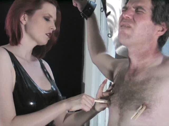 Domina M In Scene: Tender Nipples. 2nd Installent - DOMINA M`s SLAVE TRAINING - SD/480p/MP4