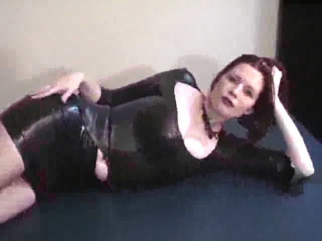 Domina M In Scene: Learning to Polish Mistress� Latex, 2nd Installent - DOMINA M`s SLAVE TRAINING - SD/480p/MP4