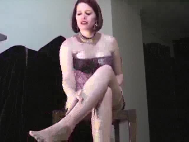 Domina M In Scene: Stocking Seduction: Part 1, 2nd Installent - DOMINA M`s SLAVE TRAINING - SD/480p/MP4