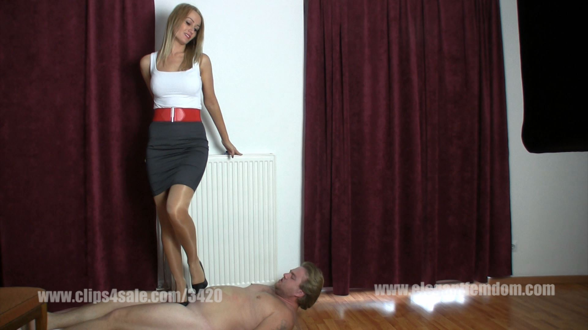 Cruel high heels trampling - ELEGANTFEMDOM - FULL HD/1080p/MP4