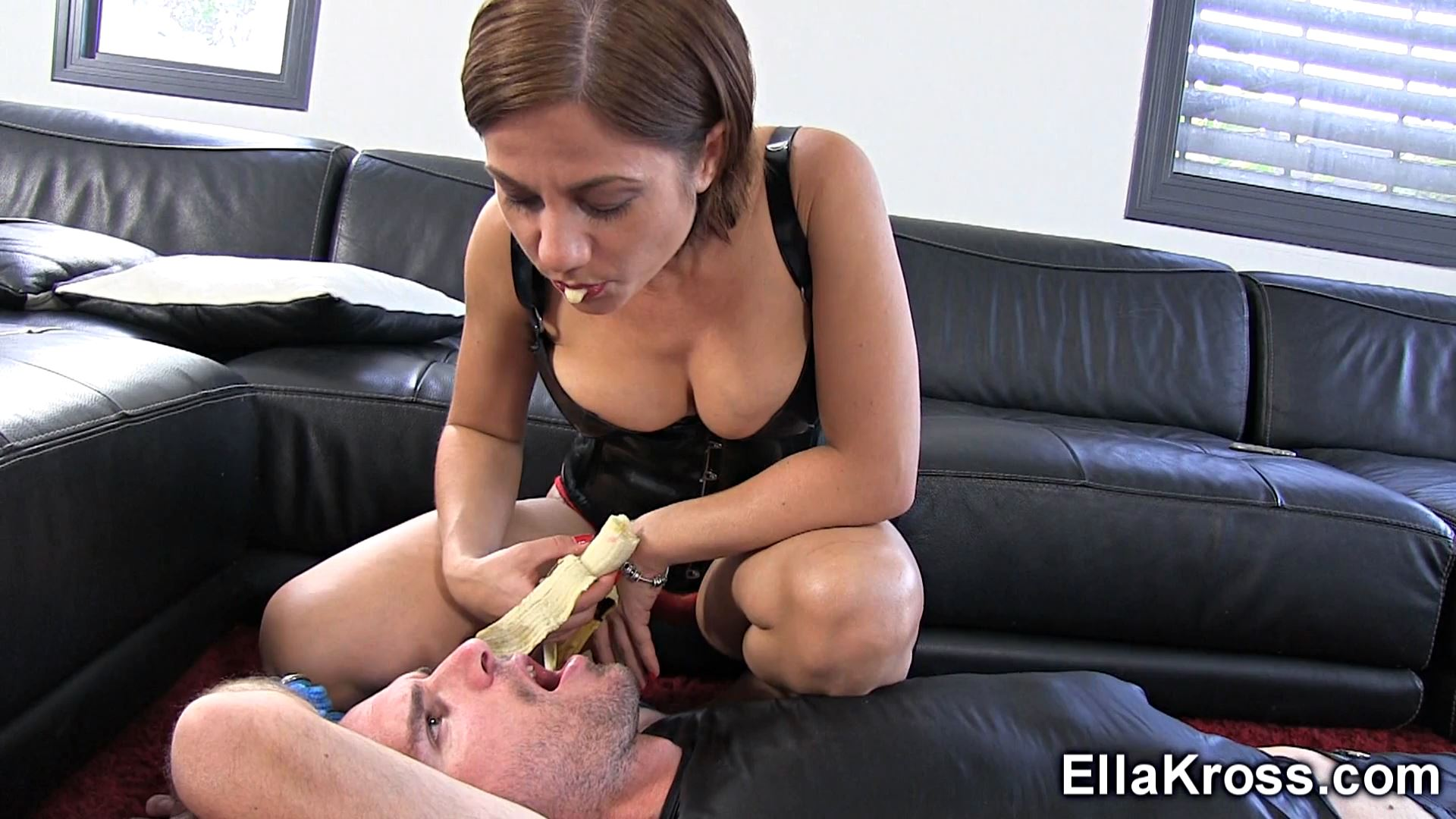 Ella Kross In Scene: Foot Worship and Spitting Food in Your Mouth - ELLAKROSS - FULL HD/1080p/MP4