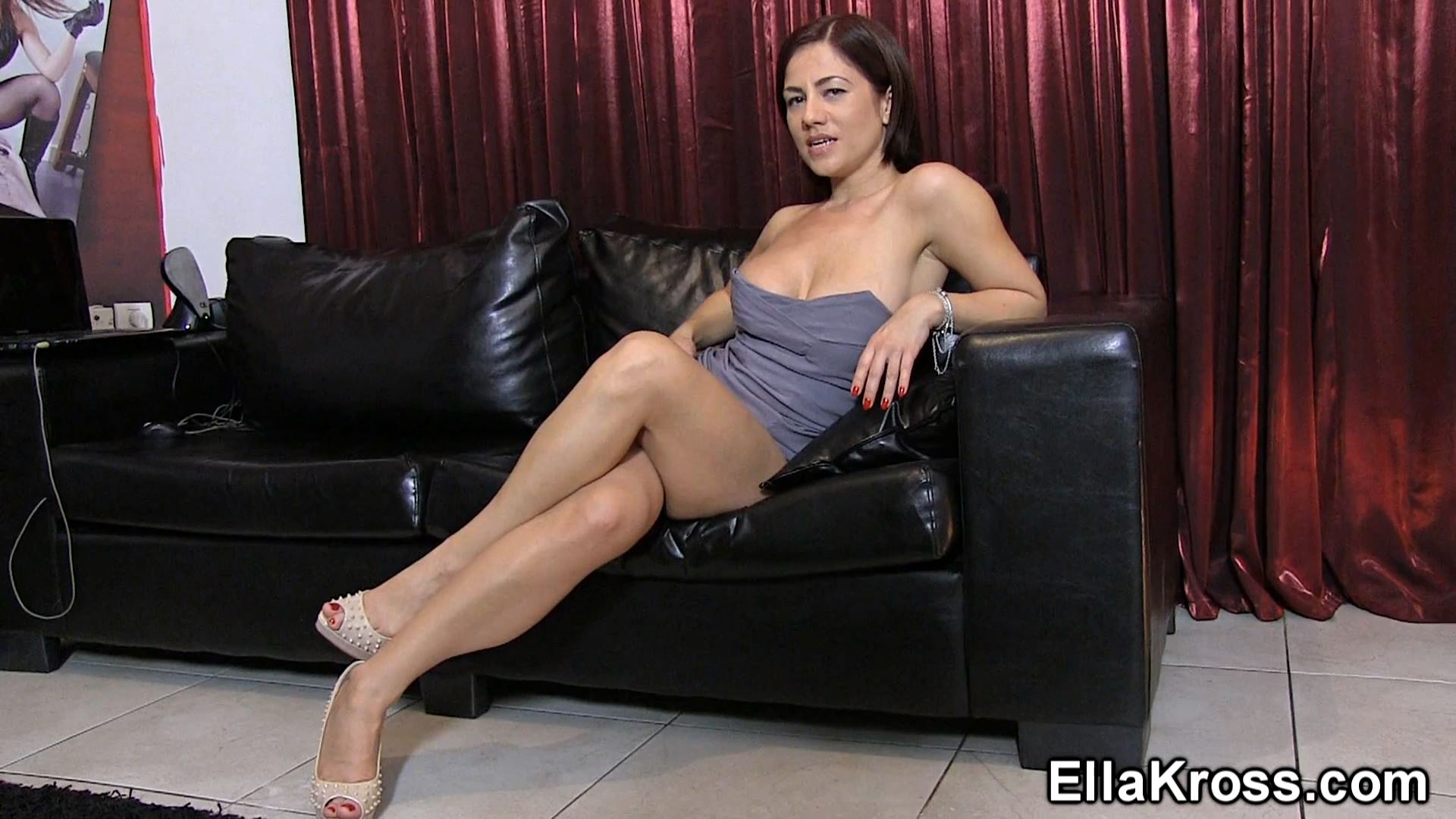 Ella Kross In Scene: Jerk-Off and Eat Your Cum - ELLAKROSS - FULL HD/1080p/MP4