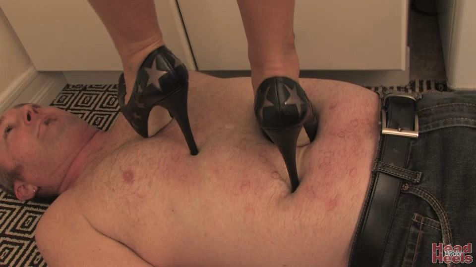 Ladiesfloor who is squirming under stiletto heels - HEADUNDERHEELS - SD/540p/MP4