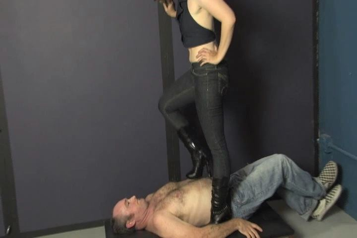 Mistress Kat tramples ladies floor in her high heeled boots - HEADUNDERHEELS - SD/480p/MP4
