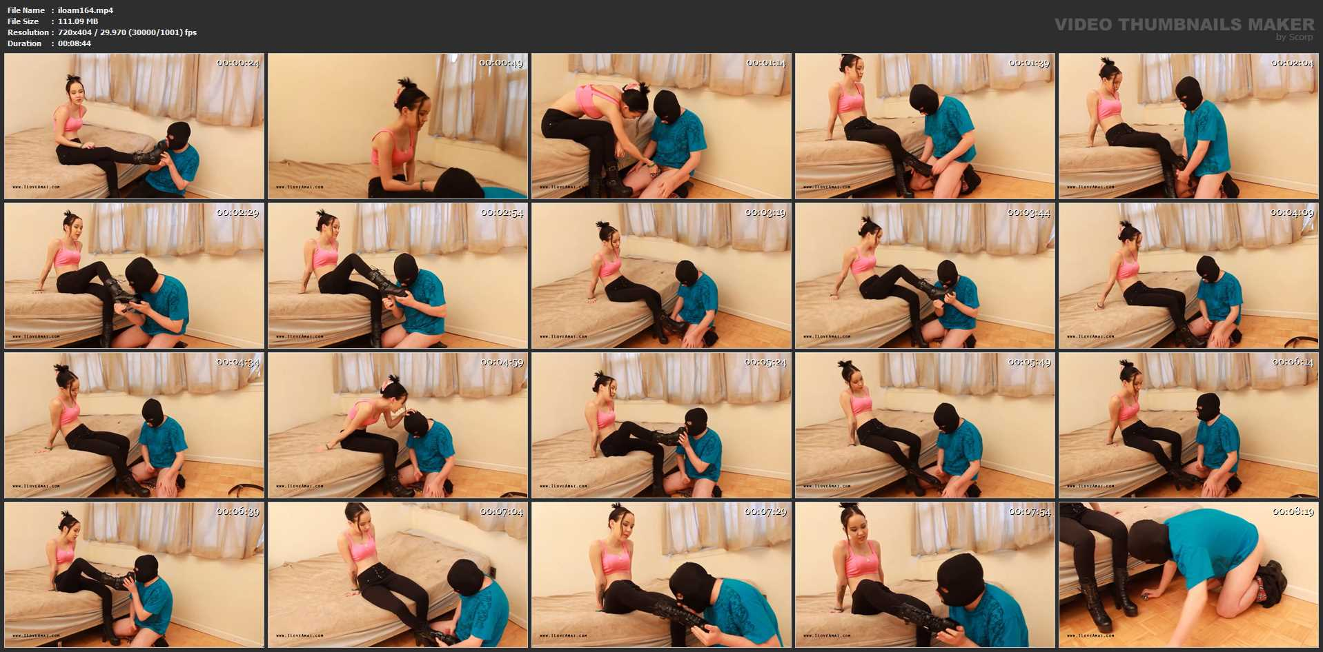 Princess Amai Liu In Scene: Unlocked Loser Humps Boots To Orgasm - PLAY WITH AMAI / ILOVEAMAI - SD/404p/MP4