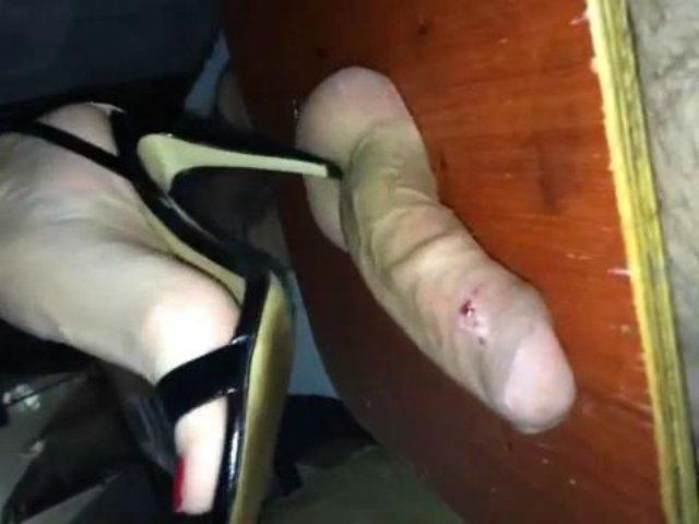 But femdom high heels ball crushing