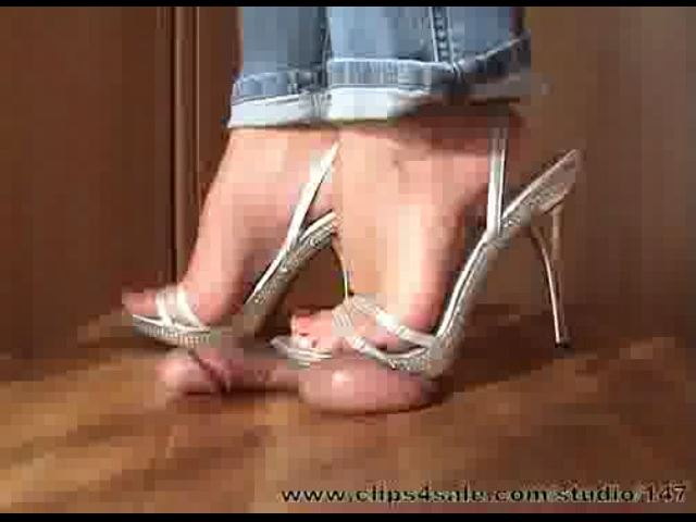 Mistress Arletta In Scene: SHINY HEELS - A BALLS AND COCK TRAMPLE - SD/480p/MP4